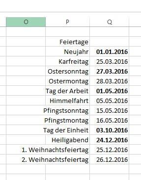 Tipp Im Excel Kalender Die Wochenenden Und Feiertage Farblich